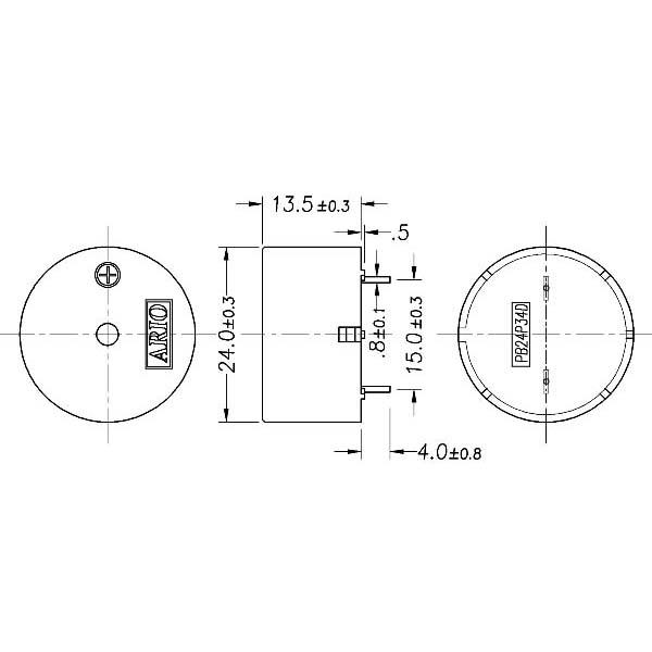 LF-PB24P34D Piezoelectric Buzzer for driver circuit built-in