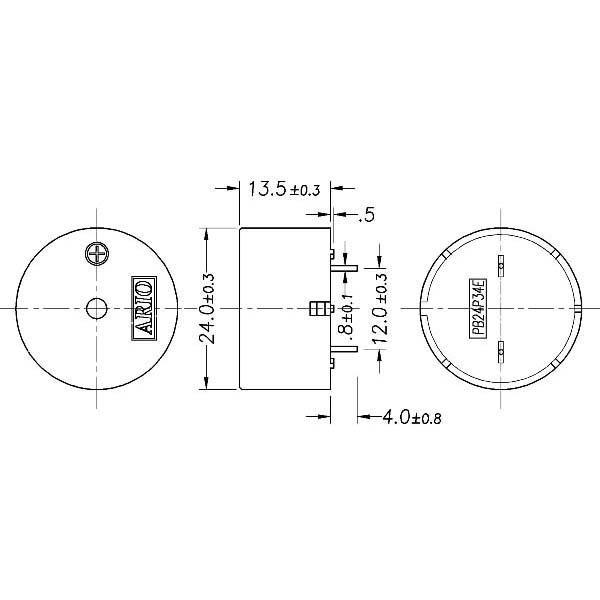 LF-PB24P34E Piezoelectric Buzzer for driver circuit built-in