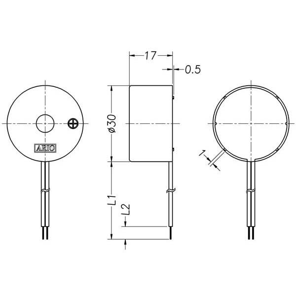 LF-PB30W25B Piezoelectric Buzzer for driver circuit built-in