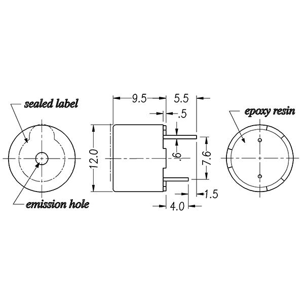 LF-MB12B24 Magnetic Buzzer(self-drive type)
