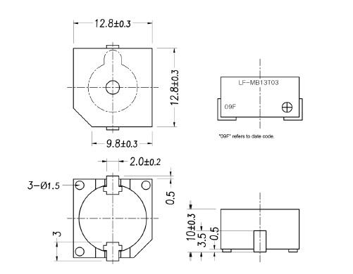 LF-MB13T03 Magnetic Buzzer(self-drive type)